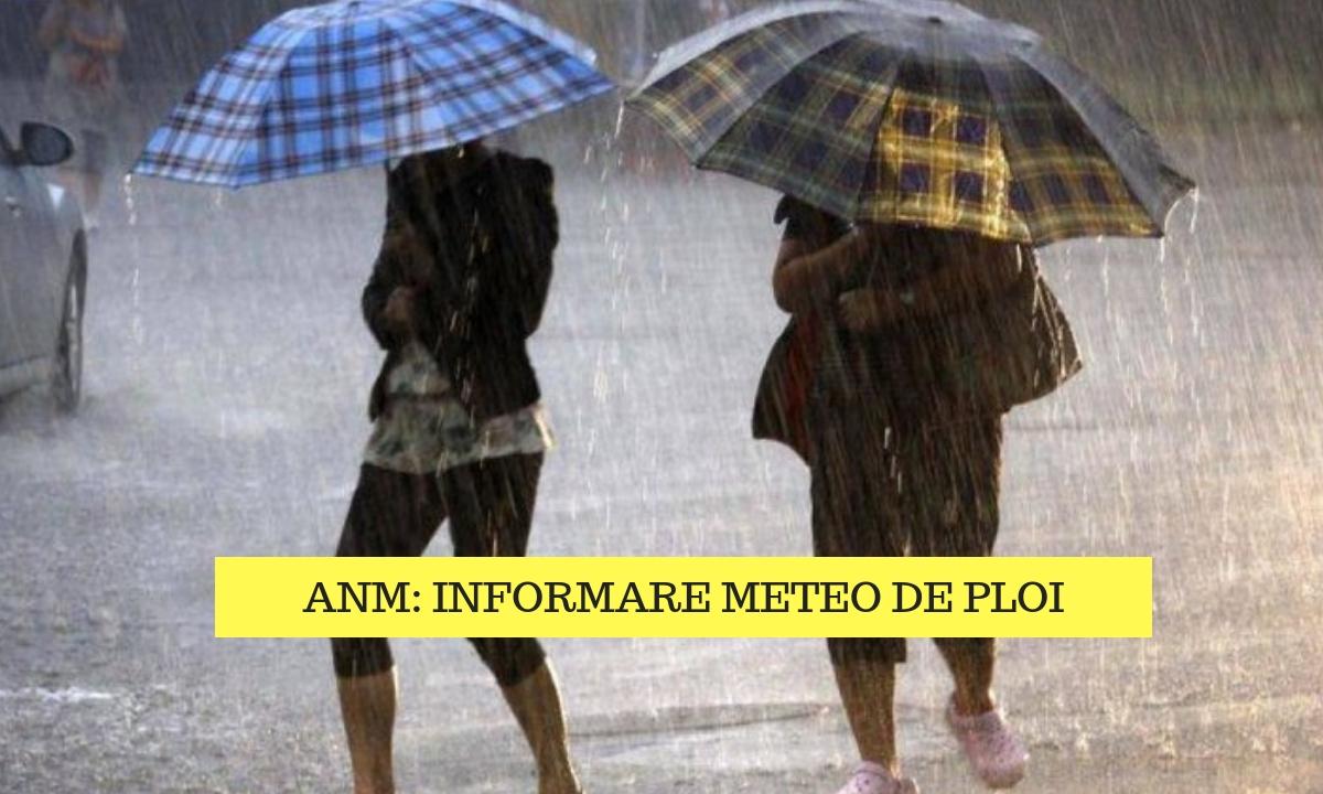 Vremea 5 septembrie: Informare meteo de ploi în majoritatea țării