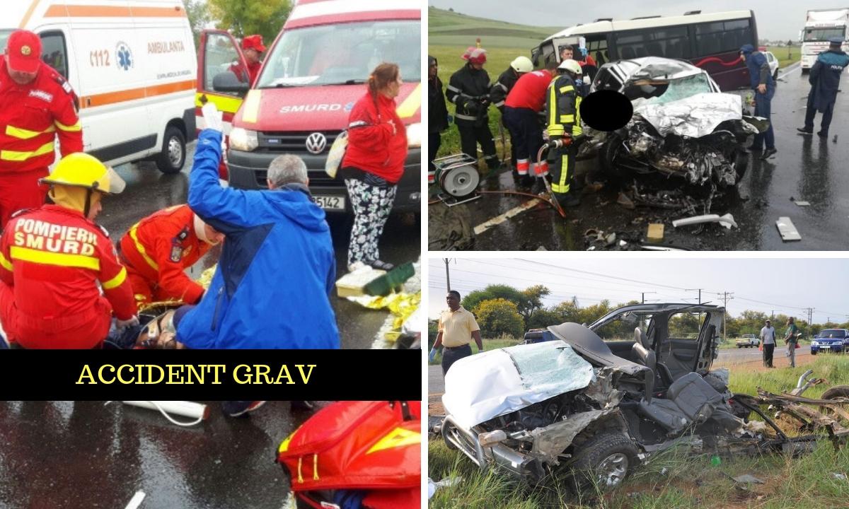 Accident grav pe DJ 245. Planul roşu de intervenţie a fost activat