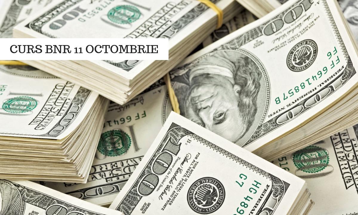Curs BNR 11 octombrie: Cursul valutar de astăzi