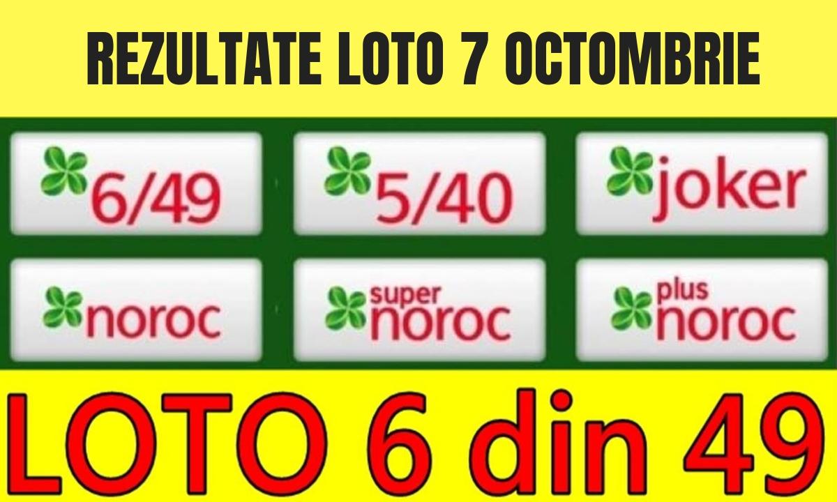 Rezultate loto 7 octombrie. Ce numere s-au extras la Loto 6/49, Joker şi celelalte jocuri