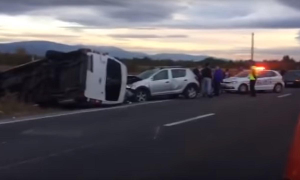 Accident în Caransebeș. 1 mort și 8 răniți, a fost activat Planul Roșu de Intervenție