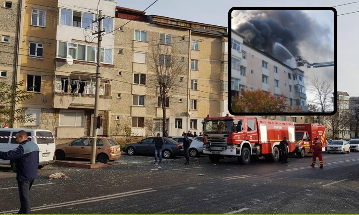 Explozie la un bloc din Piatra Neamț. Mai multe persoane, rănite