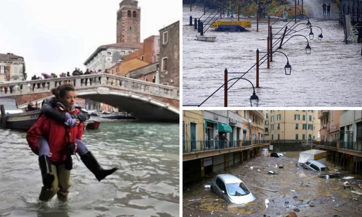 Furtuni puternice în Italia - Trei morți și inundații masive