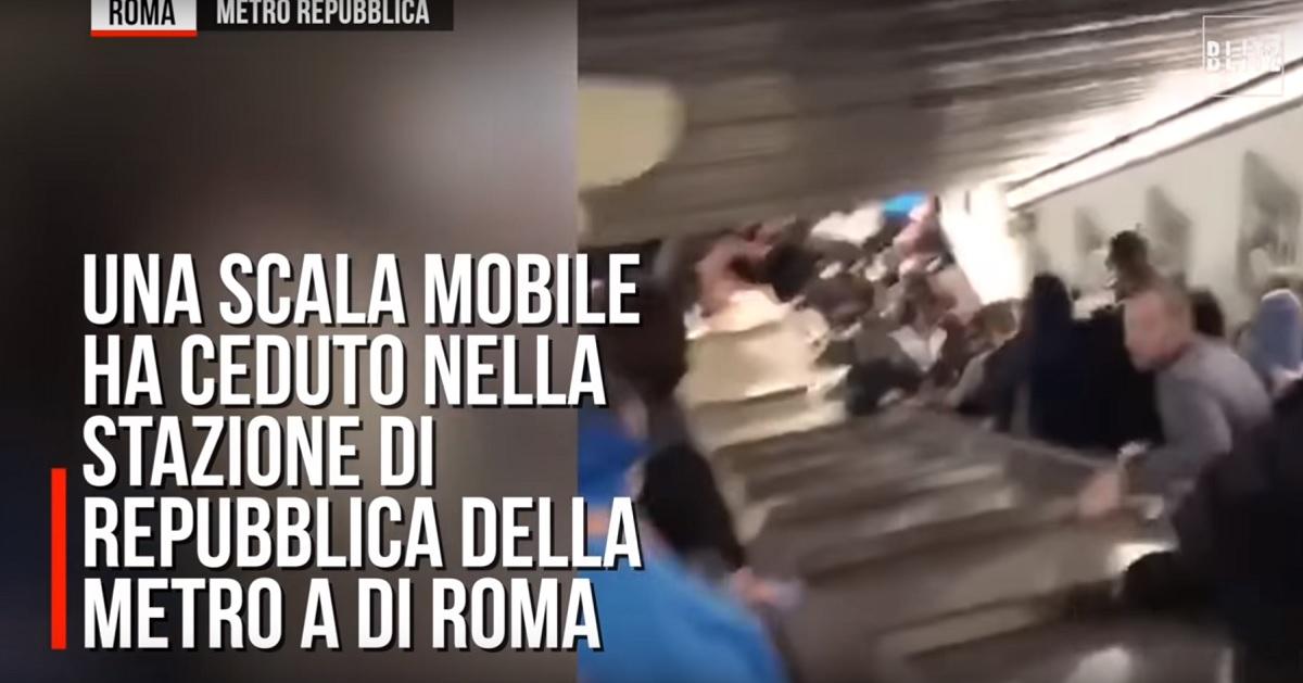 Incident grav la Roma - 24 de răniți la o stație de metrou VIDEO