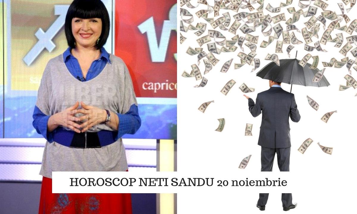 Horoscop Neti Sandu 20 noiembrie. Plouă cu bani pentru o zodie