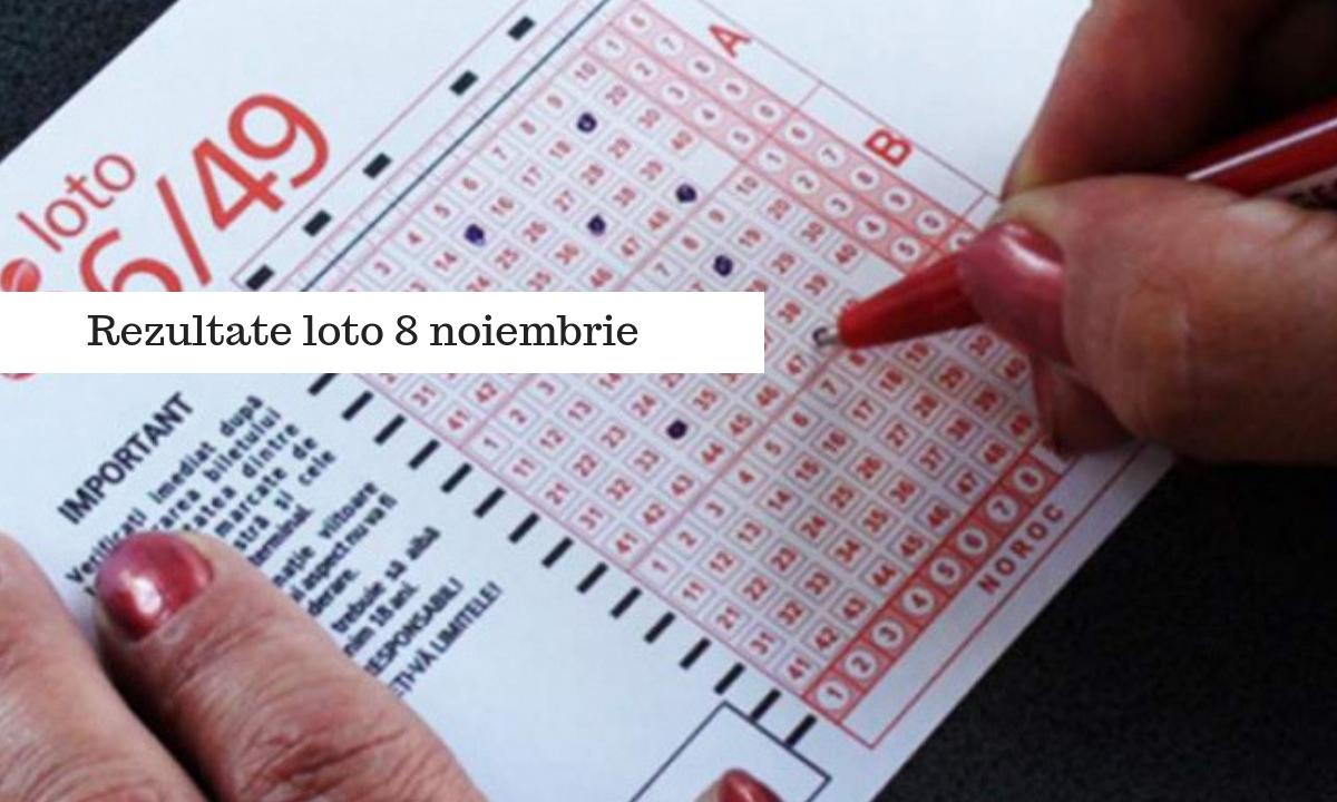Rezultate loto 8 noiembrie - Numere extrase la Loto 6 din 49 și celelalte jocuri