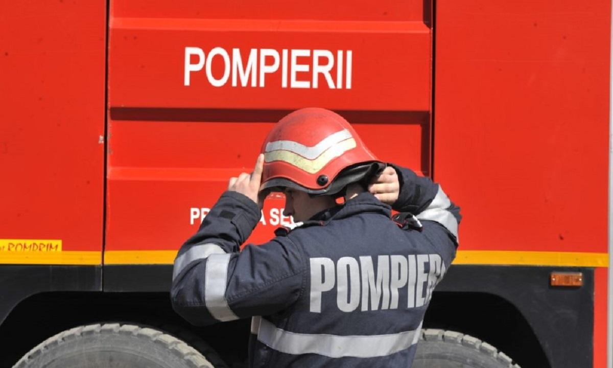 Explozie la o bancă din Giurgiu, provocată de doi hoți