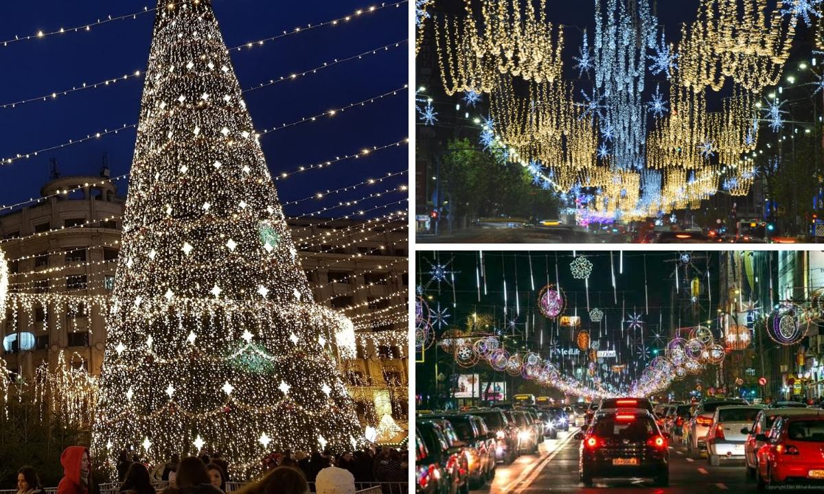 Când se aprind luminițile de Crăciun în București