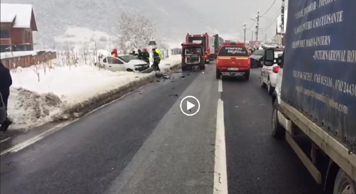Sibiu: Accident în Boița. Planul roșu de intervenție a fost activat