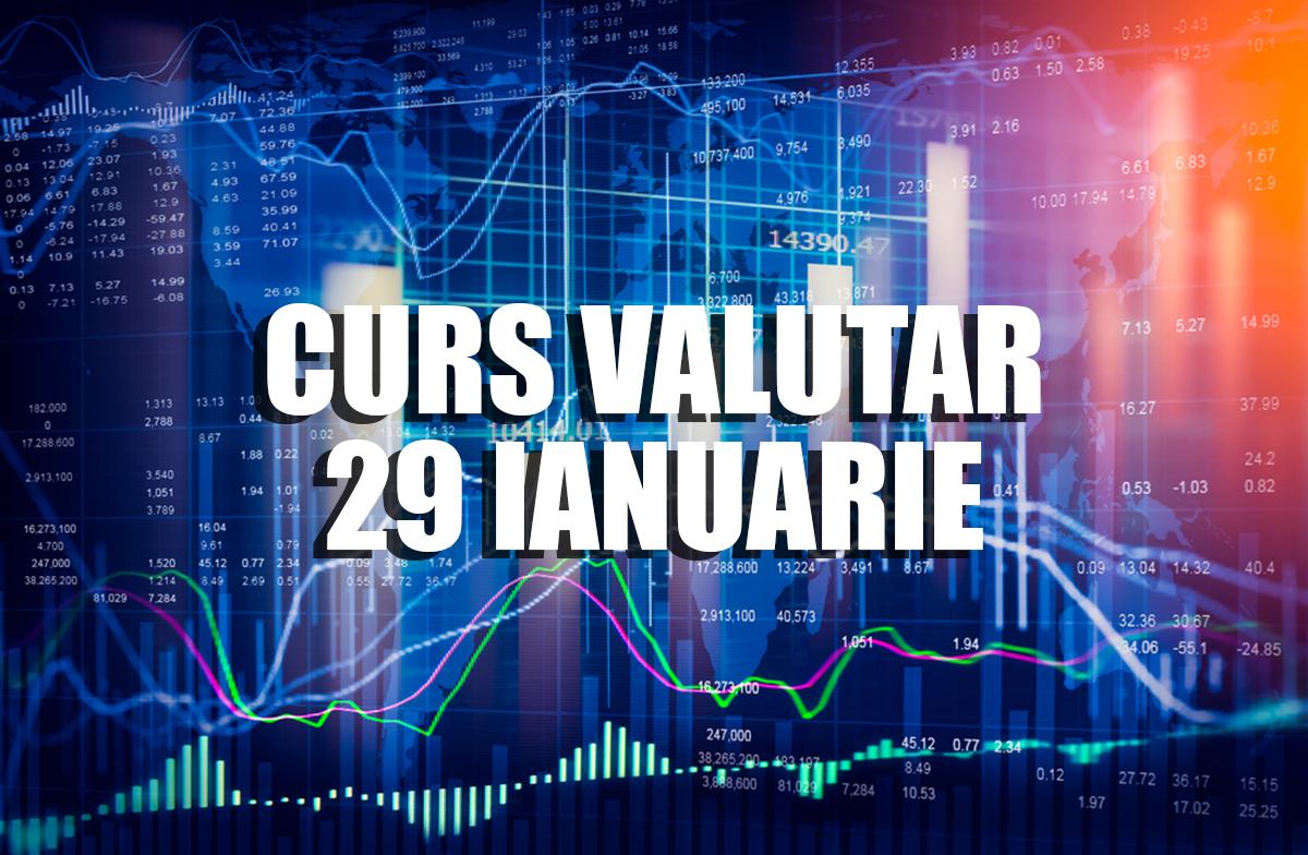 Curs valutar 29 ianuarie. Cursul anunțat astăzi de BNR