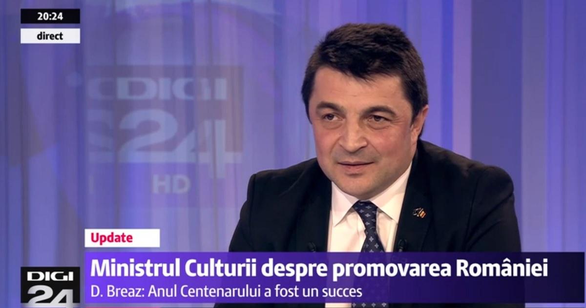 Ministrul Culturii s-a făcut de râs la TV. Cum a reacționat Daniel Breaz, întrebat de poezia lui Eminescu