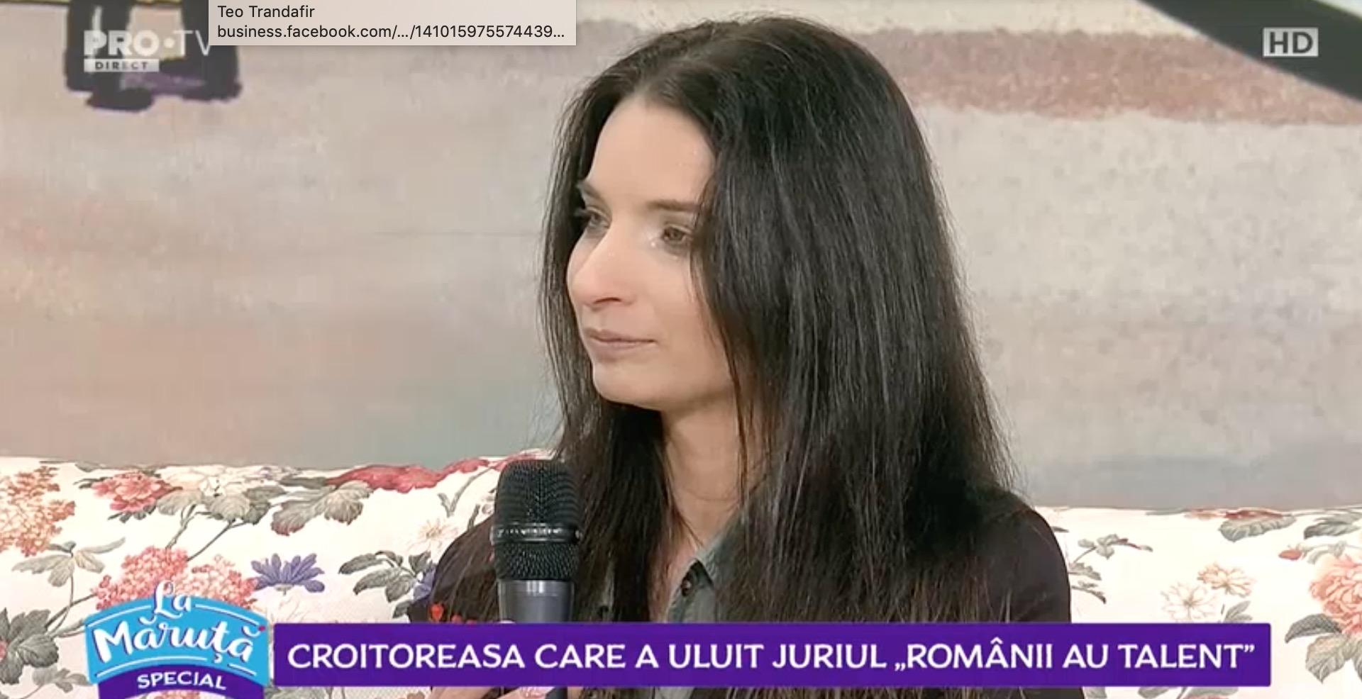 Ana Maria Pantaze, croitoreasa de la Românii au talent, a fost La Măruță