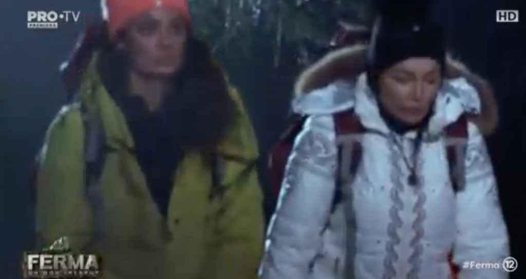 Claudia si Brigitte spre arena duelului