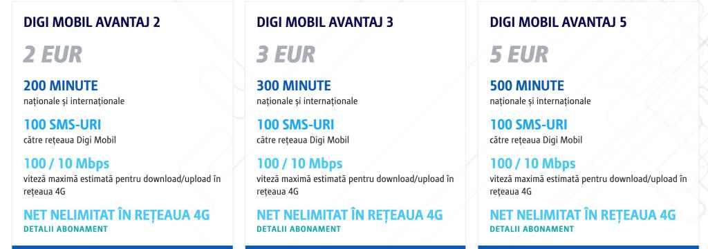 Noil prețuri Digi Mobil RCS RDS avantaj de la 1 martie