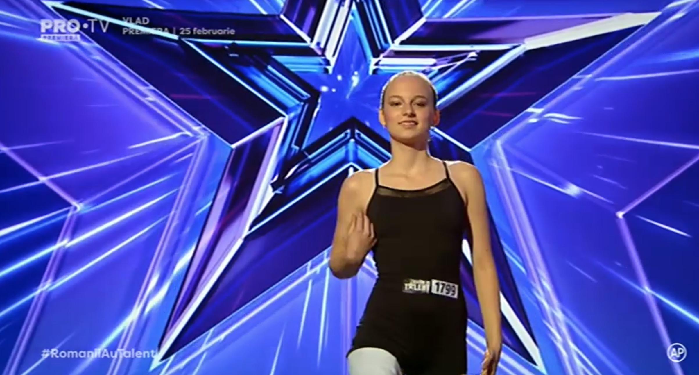 Ema Neagu gimnasta fară un picior de la Românii au talent