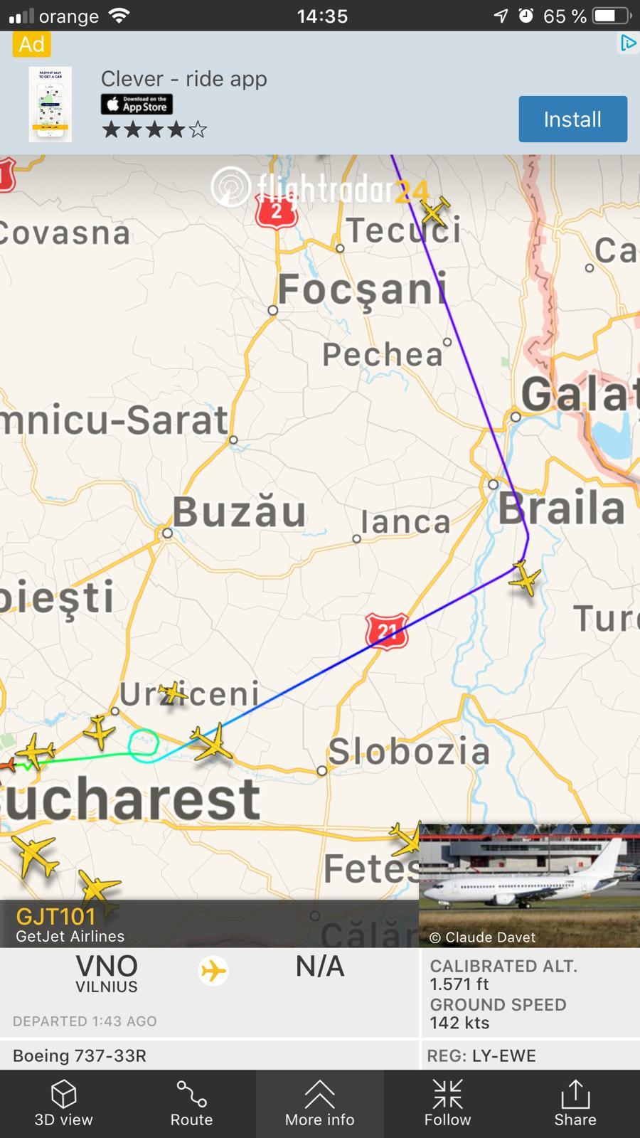 Un avion cu 150 de pasageri a aterizat de urgență pe Otopeni. Avea probleme la un motor