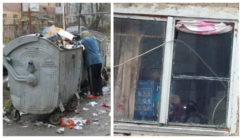 O mamă din Piteşti, amendată după ce a căutat haine în gunoaie pentru cei trei copii