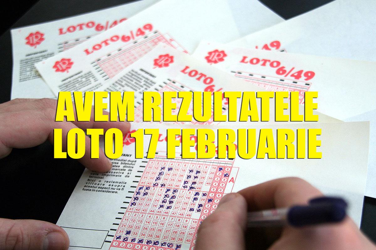 Rezultate loto azi 17 februarie 2019. Numerele extrase la Loto 6 din 49, Joker, Noroc, Super Noroc, Noroc plus