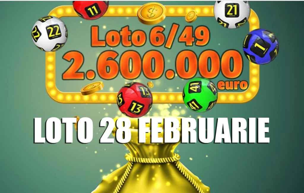 Rezultate loto 6/49 28 februarie 2019 - Numerele extrase la Loto 6 din 49, Joker, Noroc, Noroc plus, 5/40 UPDATE