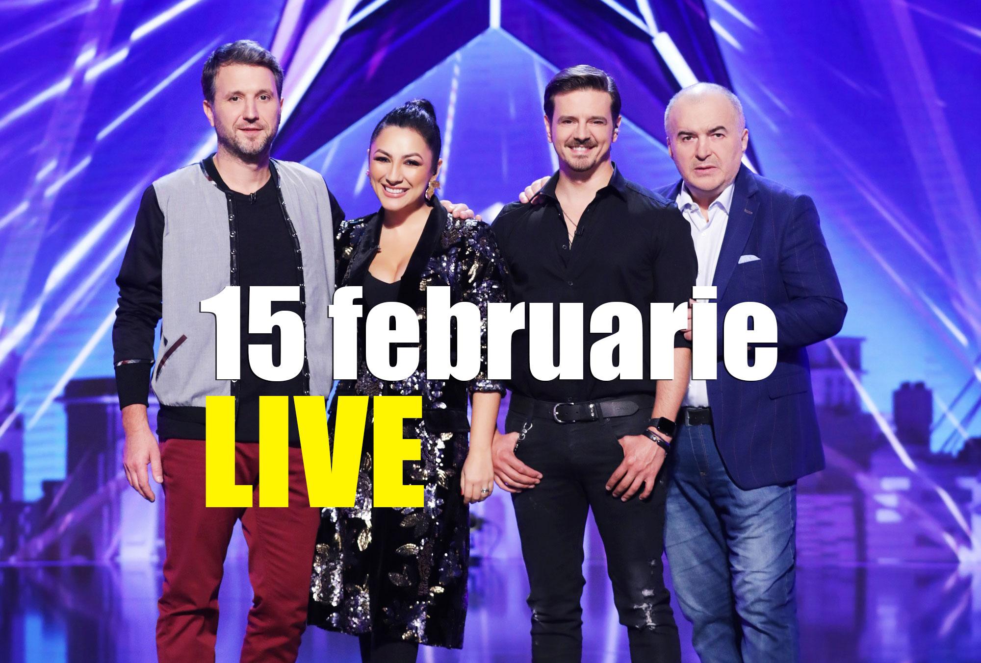 Românii au talent 15 februarie LIVE stream online gratuit. Urmărește Pro TV online în țară sau străinătate