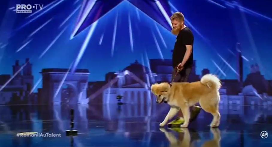 Andra în duet cu un câine