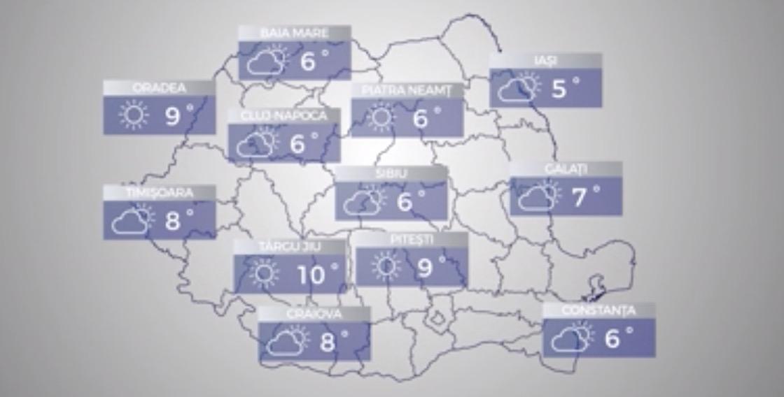Cum va fi vremea în ultimul weekend din martie. Temperaturi ridicate în toată țara
