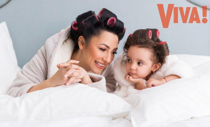 Andra și Eva, pictorial special în VIVA de martie. Cele mai emoționante imagini mamă-fiică