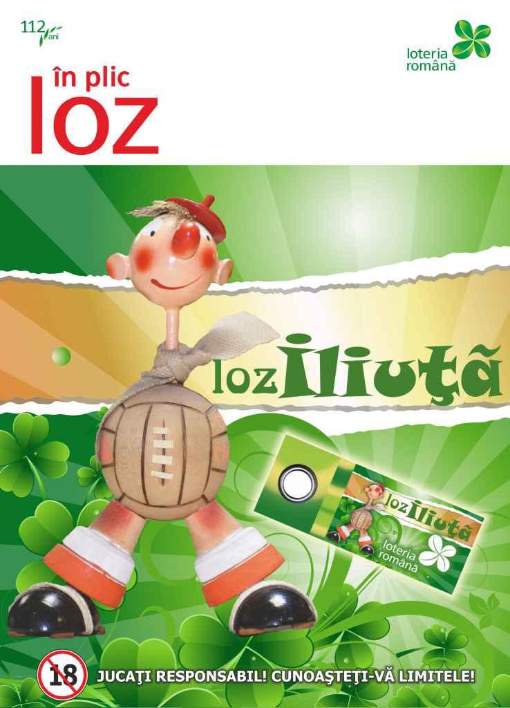 """Loteria Romana continua traditia lozului in plic lansand, in aceasta saptamana, un nou produs, intitulat """"LOZ ILIUȚĂ""""."""