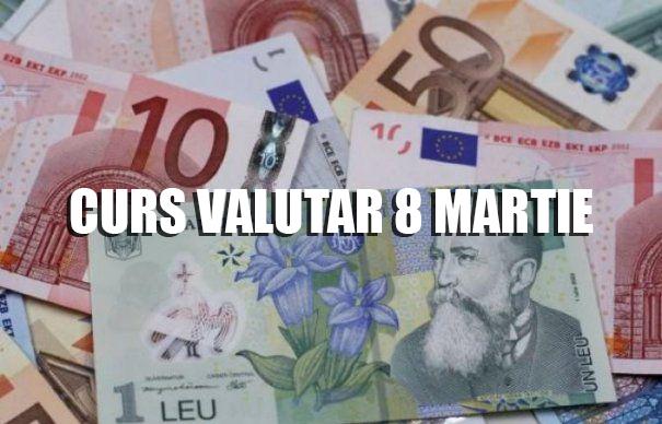 Curs valutar 8 martie 2019