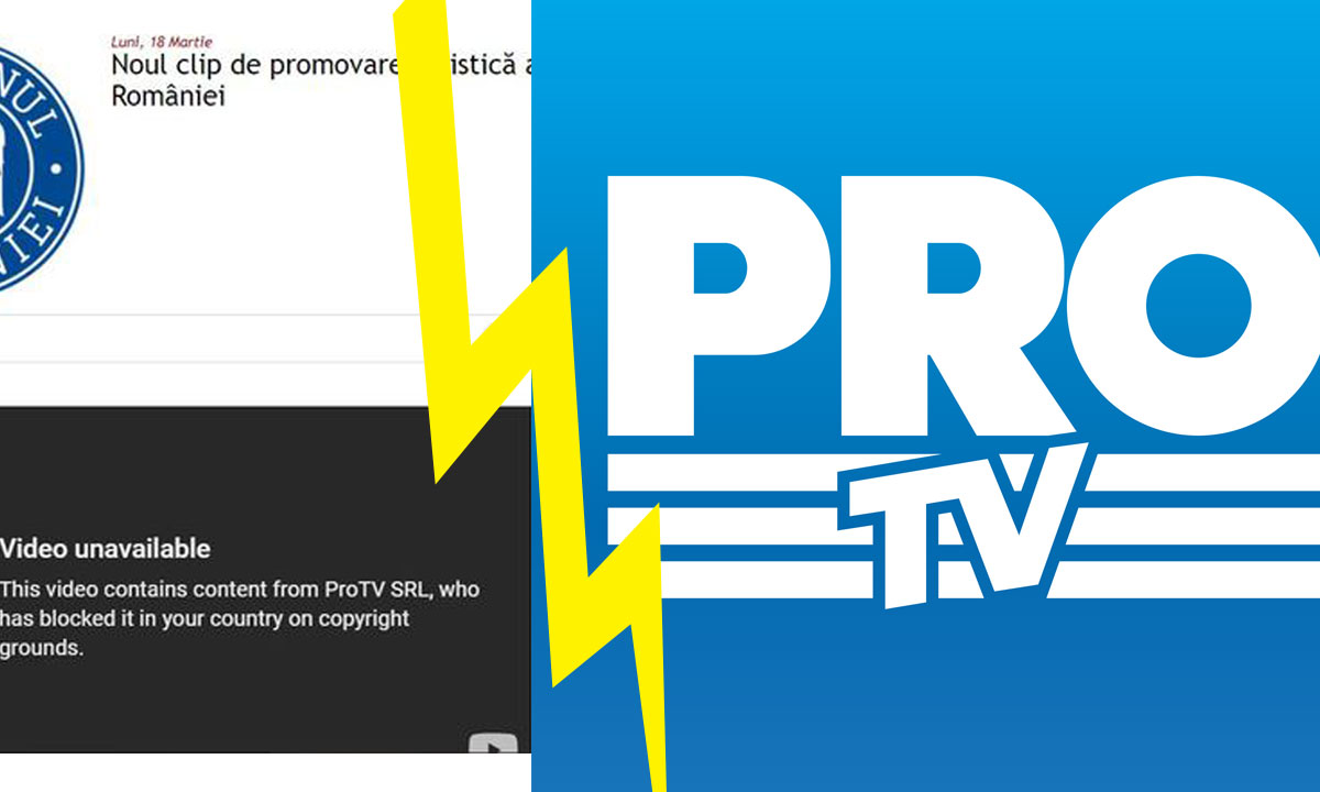 Pro TV a șters clipul de promovare al României de pe Youtube