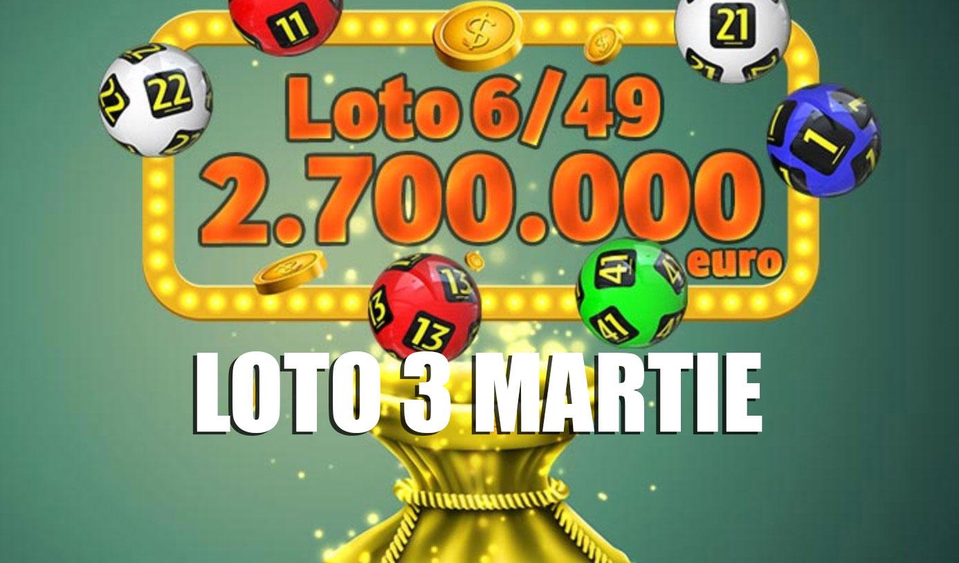 Rezultate loto 6/49 3 martie 2019 - Numerele extrase la Loto 6 din 49, Joker, Noroc, Noroc plus, 5/40