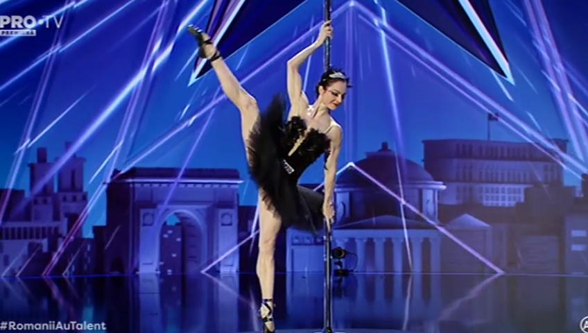 Elena Gibson balet și acrobație Românii au talent
