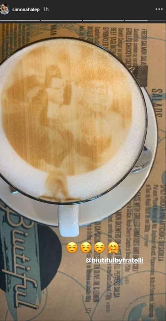 Ce a găsit Simona Halep în ceașcă, după ce a comandat o cafea într-un celebru local din București