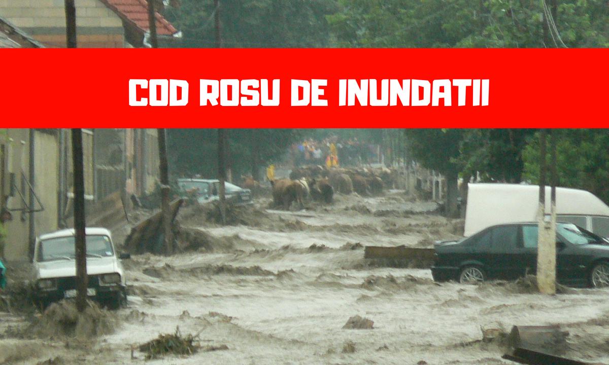 Cod roșu de inundații pe râuri din județul Bistriţa-Năsăud