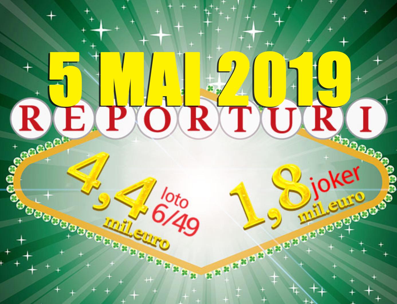 Rezultate loto azi 5 mai 2019 6/49, Joker, Noroc, Noroc plus, 5/40, Super Noroc live