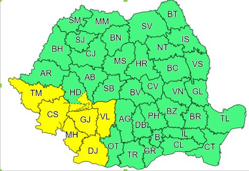 Vremea vine urgia in România