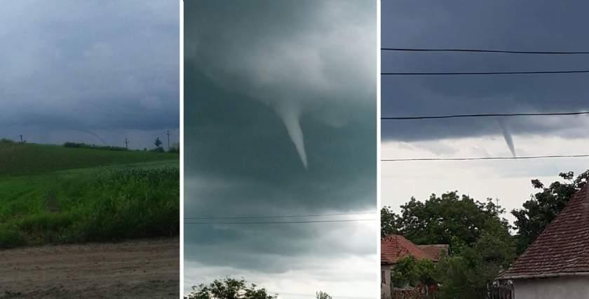 În Arad și Mureș aproape s-a format o tornadă. Fenomene meteo extreme