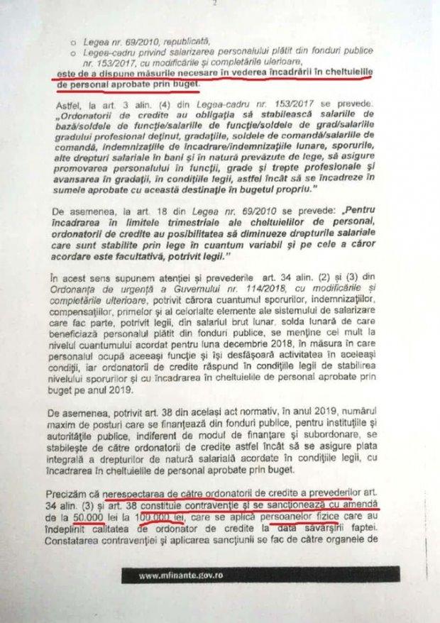 """DOCUMENT Vlad Alexandrescu: Teodorovici a trimis tuturor instituțiilor publice din țară o notificare prin care cere """"reducerea numărului de angajați și/sau reducerea cuantumului unor drepturi salariale"""