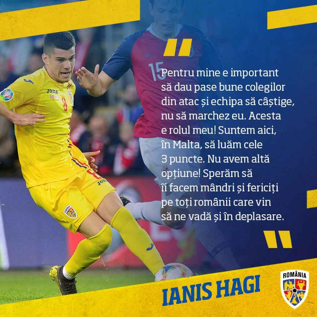 Mesajul lui Ianis Hagi înaintea meciului cu Malta