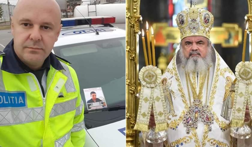 Un poliţist din Olt l-a provocat pe Preafericitul Daniel să îşi doneze salariul: 'Ajutaţi un copil cu cancer'