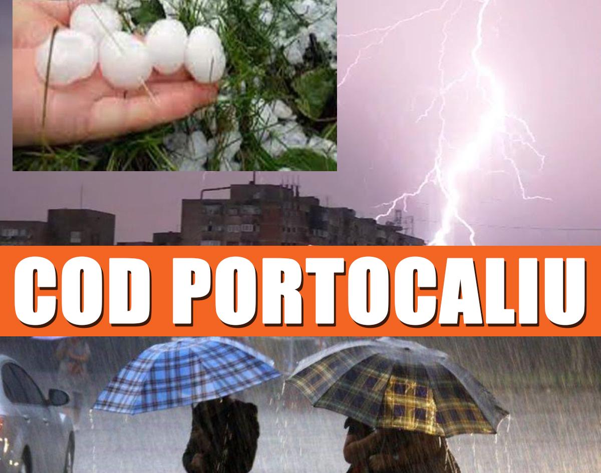 Cod portocaliu de ploi în Constanța și Buzău; alte 11 județe sub cod galben