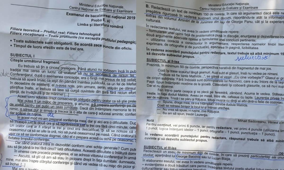 Rezolvare Subiecte Bac Limba Română - Barem corectare EDU.ro Bacalaureat 2019