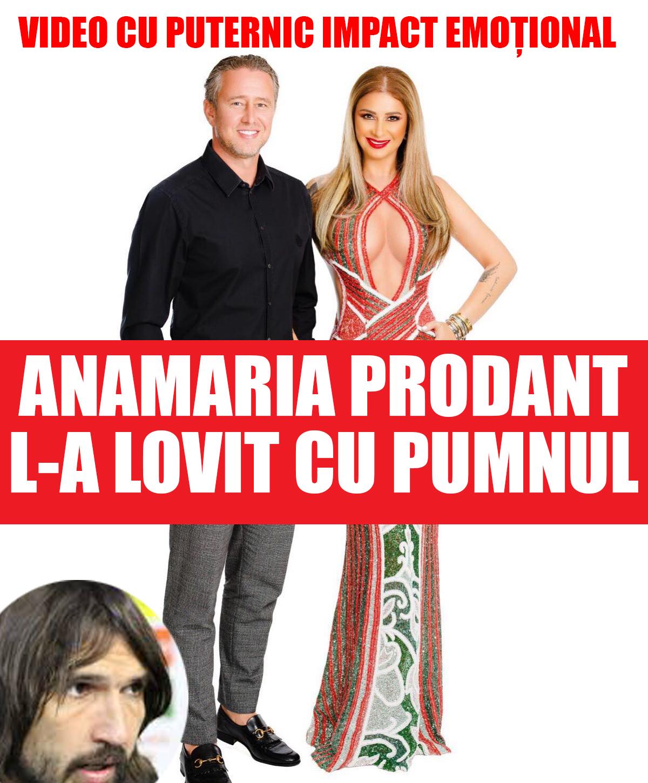 Anamaria Prodan îl lovește cu pumnul pe Dan Alexa VIDEO