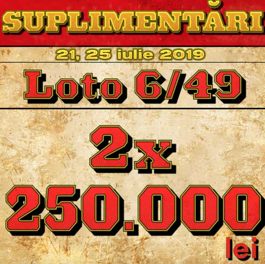 Loteria Română suplimentează premiile 6 din 49 pentru tragerile de duminica 21 iulie