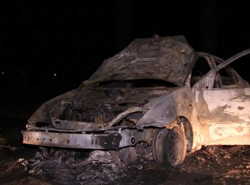 Autoturismul a ars in intregime. sursa foto: a1.ro