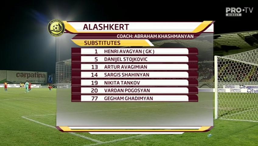 FCSB - ALASHKERT SCOR 0-0. Pro TV live stream gratuit LIVE
