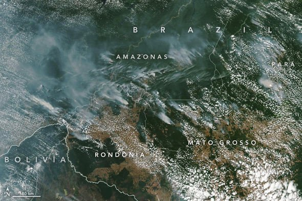 Incendiile din padurea Amazoniana pot fi observate din spatiu. sursa foto: NASA