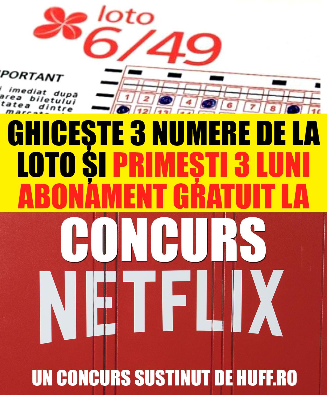 Ghicește 3 numere de la LOTO de duminica 25 august 2019, și poti castiga 1 abonament Netflix gratuit 3 luni