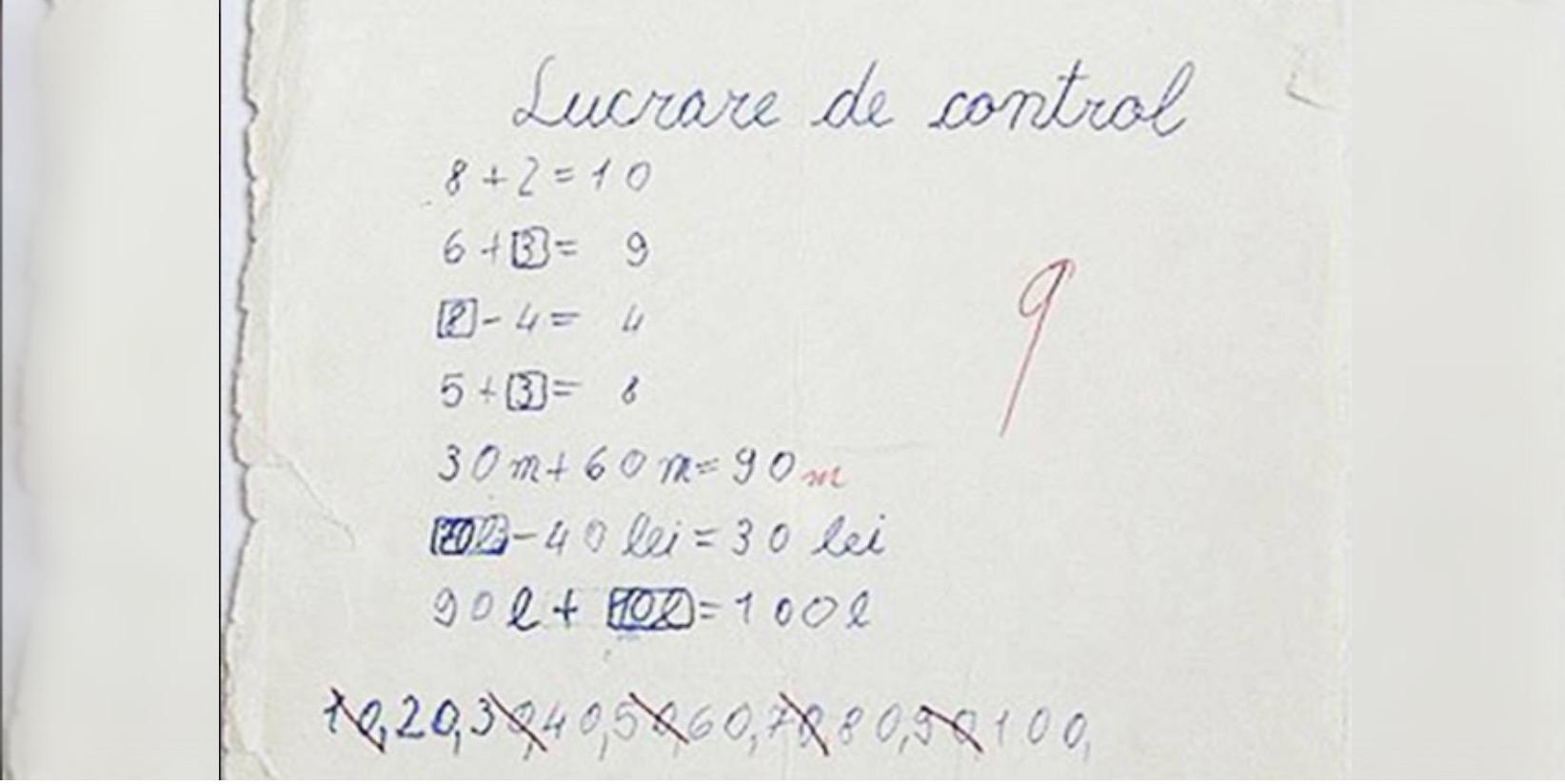 Fetița Care A Uimit Toți Profesorii Cu Răspunsul Ei. Cât Fac 9 X 9? Vezi Ce A Scris În Lucrarea De Control