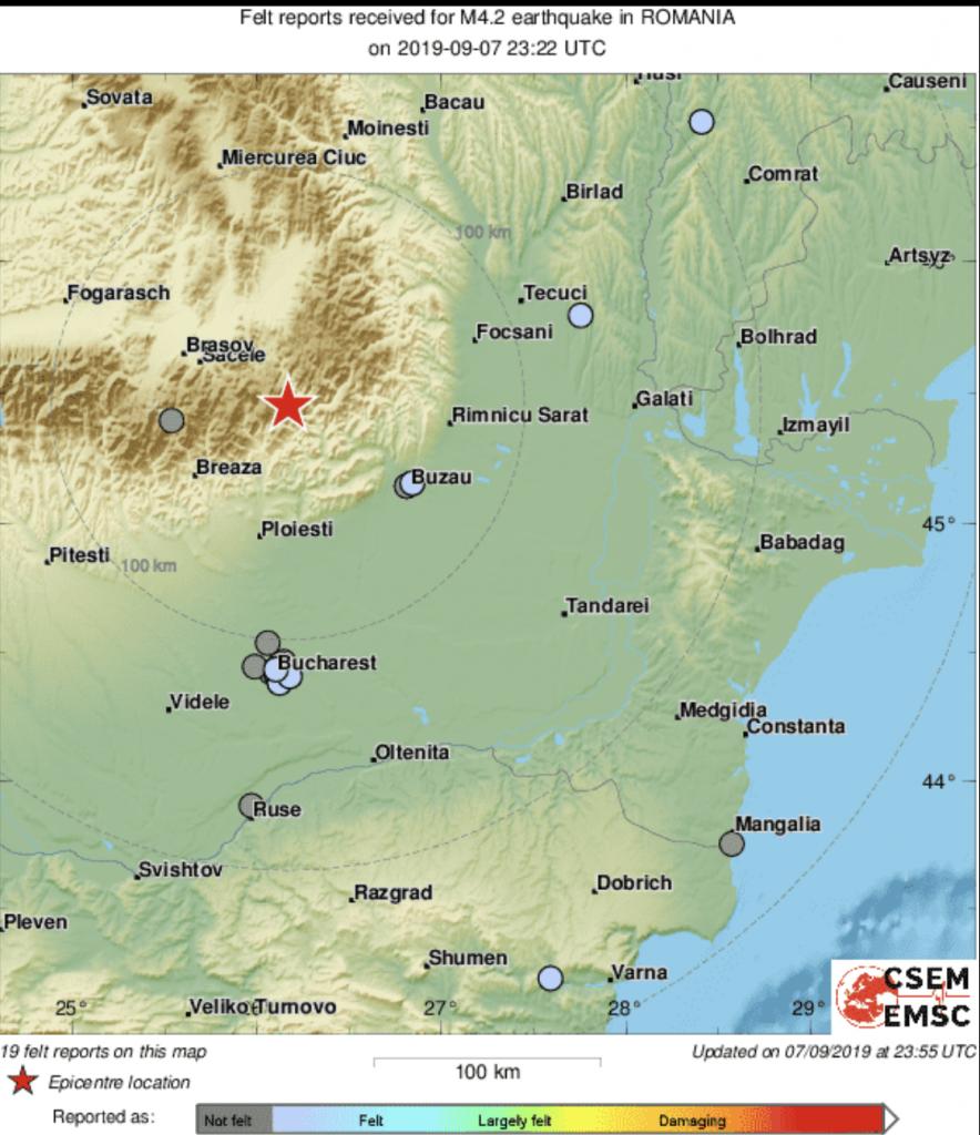 Cutremur în România! În 8 septembrie s-a înregistrat un seism semnificativ, resimțit și-n București